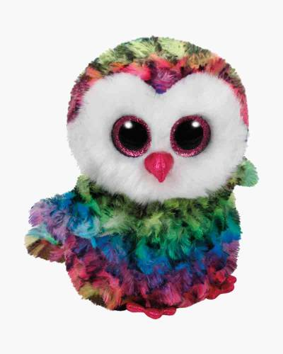 Owen the Rainbow Owl Beanie Boo's Regular Plush