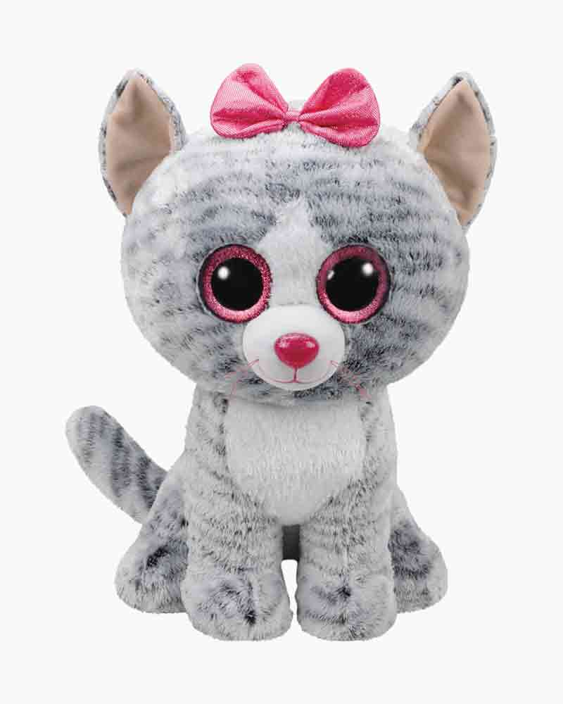 Ty Kiki The Grey Cat Beanie Boo S Large Plush The Paper Store