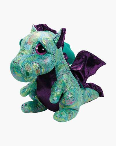 Cinder the Green Dragon Beanie Boo's Large Plush