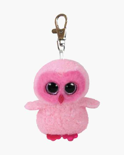 Twiggy the Pink Owl Beanie Boo's Plush Clip