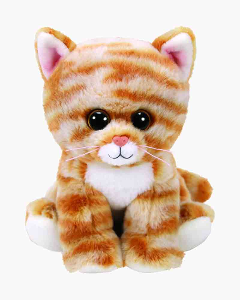 Ty Cleo the Gold Tabby Cat Beanie Boo s Regular Plush  9b0d9e0a00c