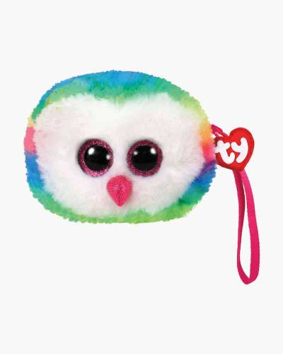 Owen the Rainbow Owl Ty Gear Stuffed Animal Wristlet