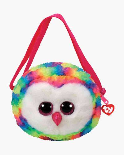 Owen the Rainbow Owl Ty Gear Stuffed Animal Purse