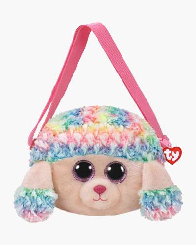 Rainbow Poodle Ty Gear Stuffed Animal Purse