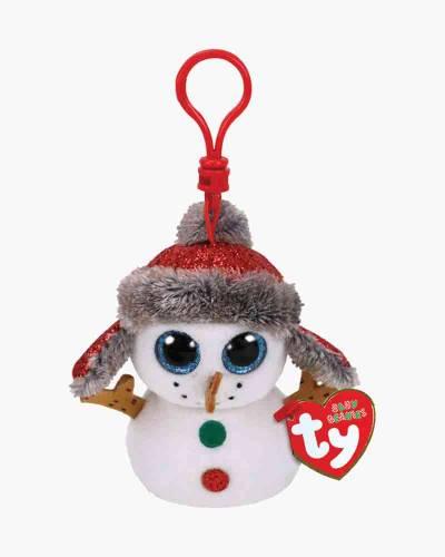 Buttons the Snowman Beanie Boo's Plush Clip