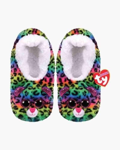 Dotty Leopard Slipper Socks