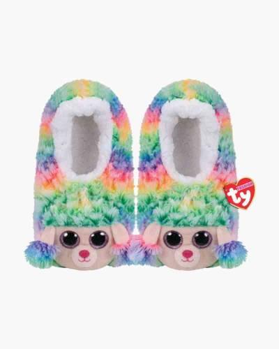 Rainbow Poodle Slipper Socks