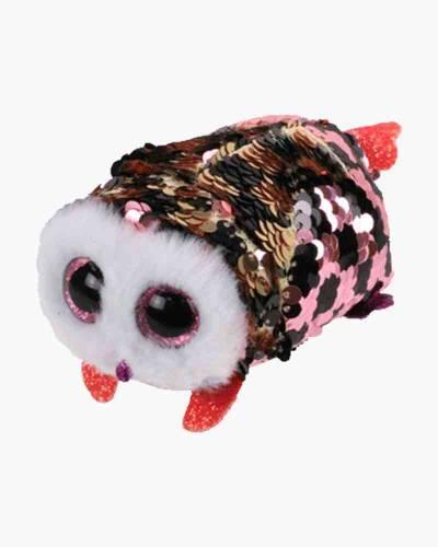 Checks the Owl Teeny Tys Flippable Seqin Plush