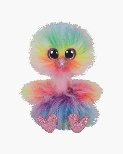 Ty Asha the Rainbow Ostrich Beanie Boo s Regular Plush e903871a454d