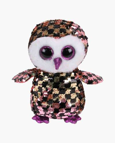 Checks the Owl Flippables Regular Sequin Plush