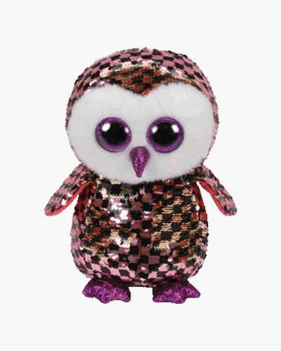 Checks the Owl Flippables Medium Sequin Plush