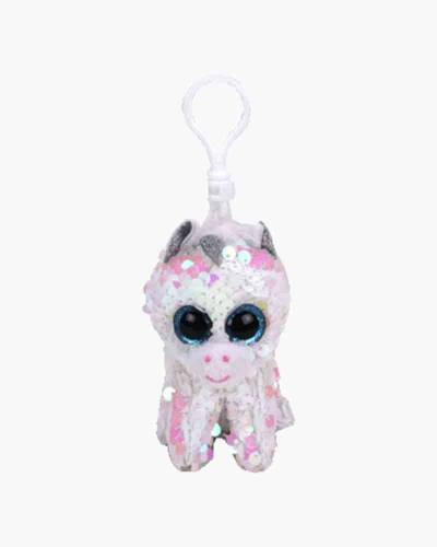Diamond the Unicorn Flippables Sequin Plush with Clip
