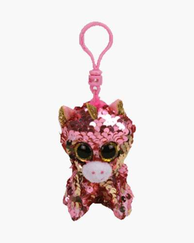 Sunset the Unicorn Flippables Sequin Plush with Clip