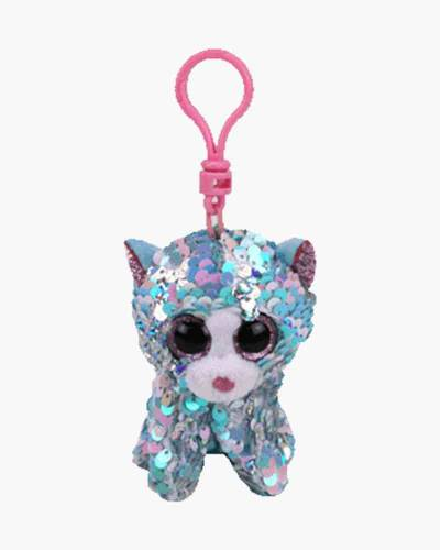 Whimsy the Cat Flippables Sequin Plush with Clip
