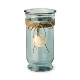 Boston International Tall Seashell Hurricane Glass
