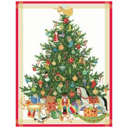 Caspari Christmas Tree with Toys Boxed Cards