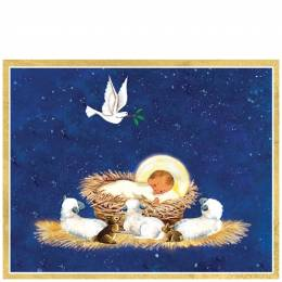 Caspari Baby in Manger Boxed Cards