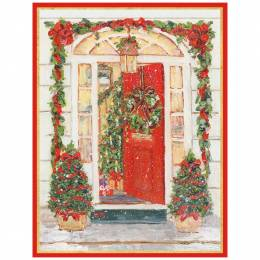 Caspari Open Christmas Door Boxed Cards