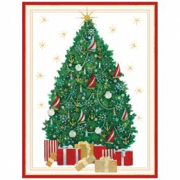 Caspari Nautical Christmas Tree Boxed Cards