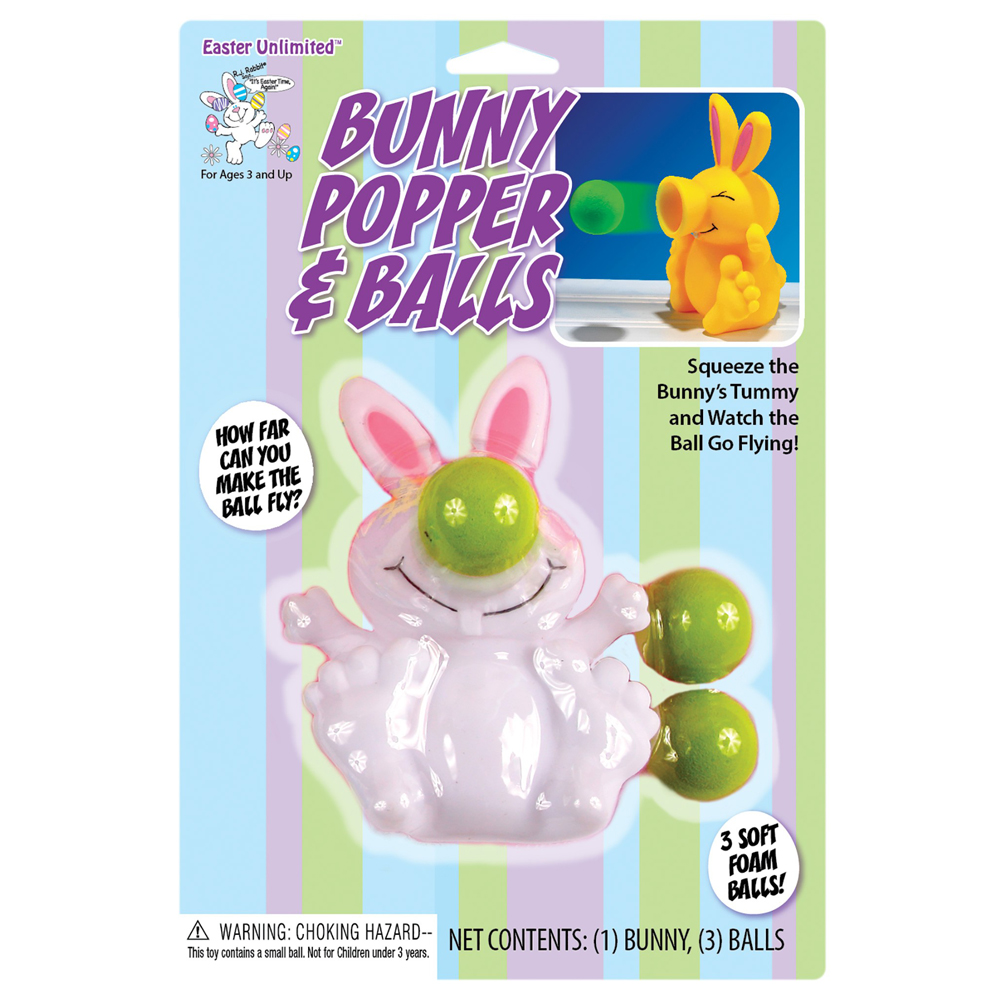 Fun World Easter Bunny Popper and Balls Set (Assorted Colors)