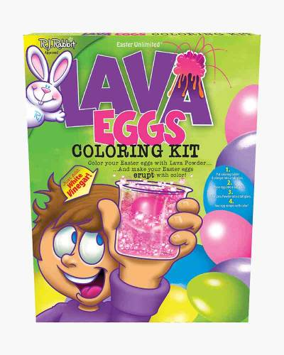 Lava Eggs Coloring Kit