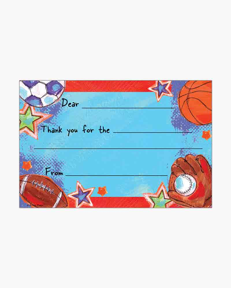 Gina B Designs Sports Fill-In Thank You Cards