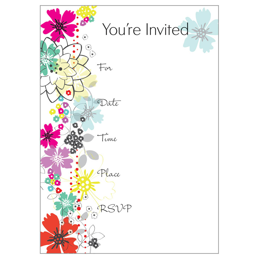 Gina B Designs Dot Flowers Fill-In Party Invitations