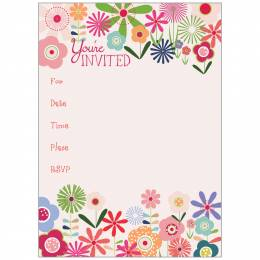 Gina B Designs Flower Power Fill-In Party Invitations