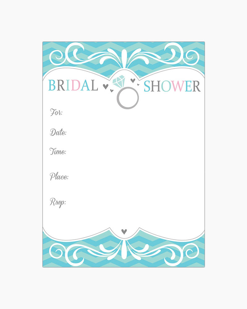 Gina B Designs Engagement Ring Fill-In Bridal Shower Invitations