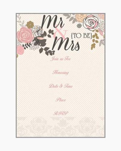 Mr. and Mrs. To Be Fill-In Invitations