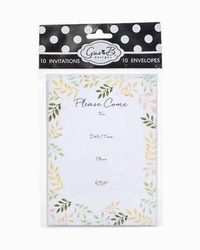Yellow and Green Leaves FIll-In Invitations