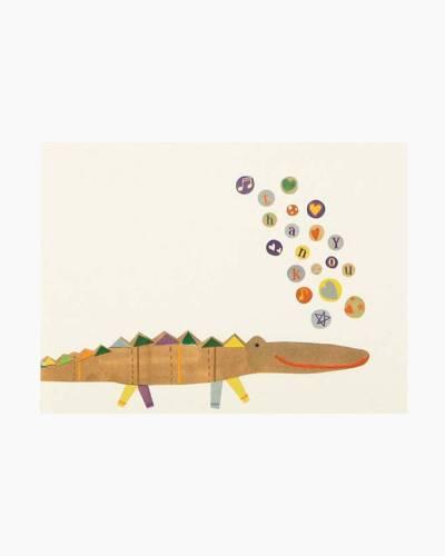 Alligator Infant Thank You Notes