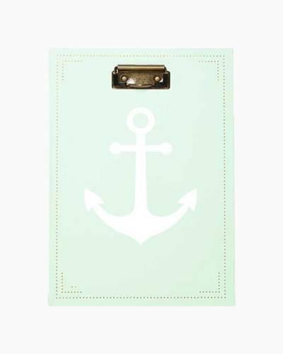 Nautical Anchor Clipboard Padfolio