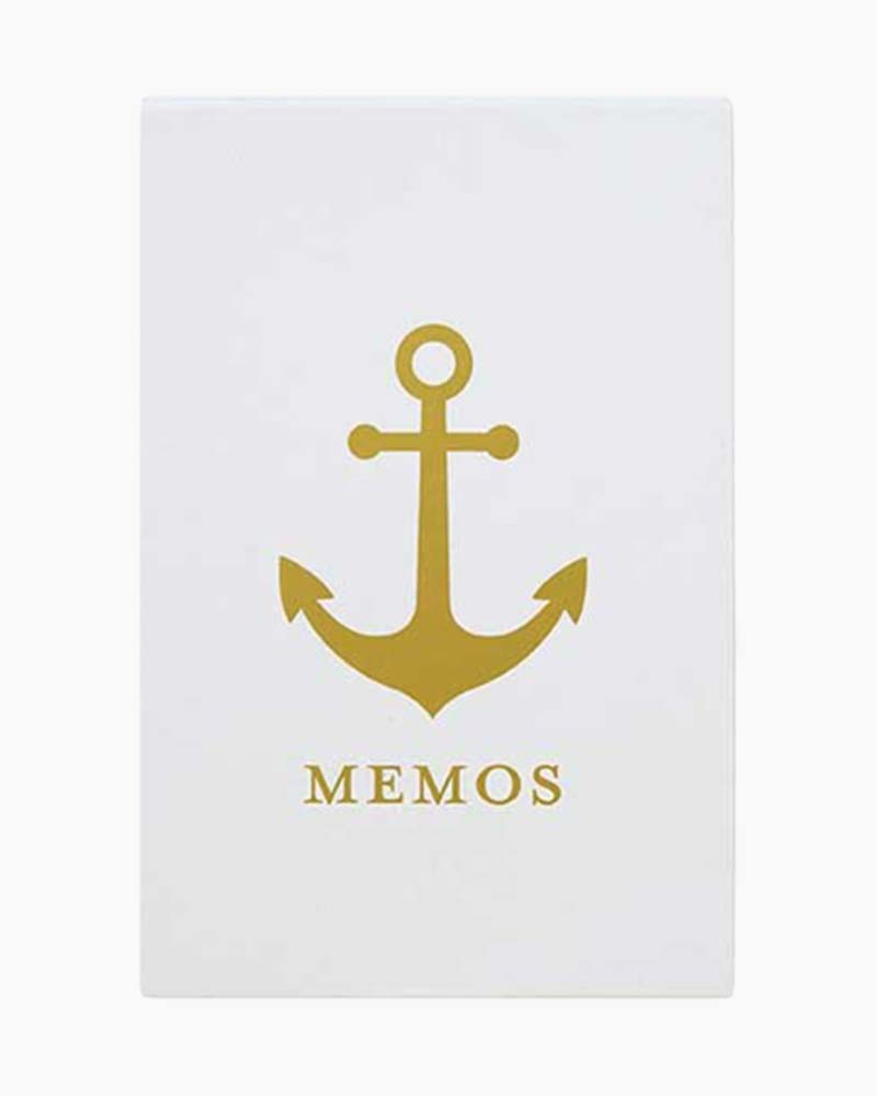C.R. Gibson Gold Anchor Magnetic Memo Box Notes