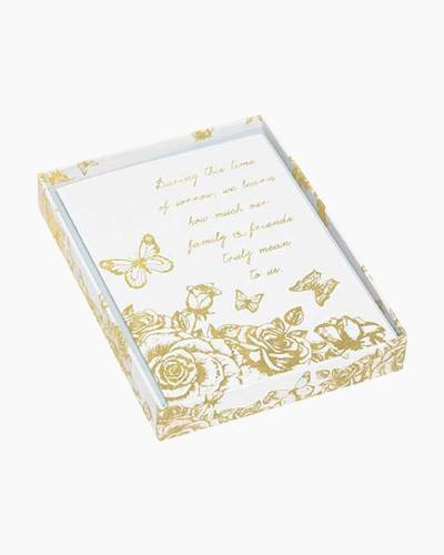 Gold Butterfly Sympathy Acknowledgment Boxed Notes