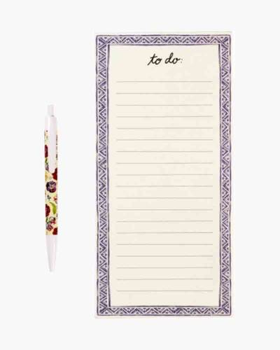 Bouquet Magnetic Shopping List Pad and Pen