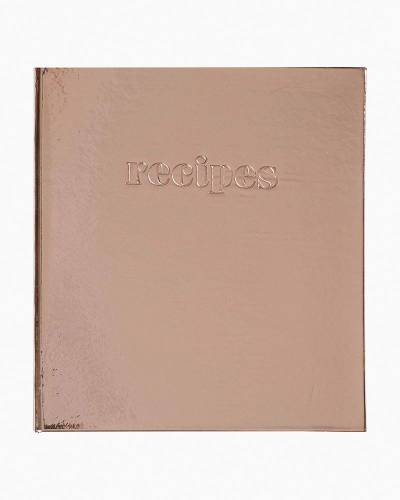 Rose Gold Pocket Page Recipe Book