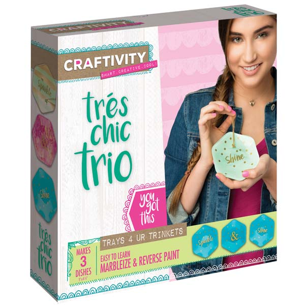 Creativity for Kids Tres Chic Trio Trinket Dish Craft Kit