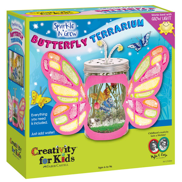 Creativity for Kids Sparkle n' Grow Butterfly Terrarium