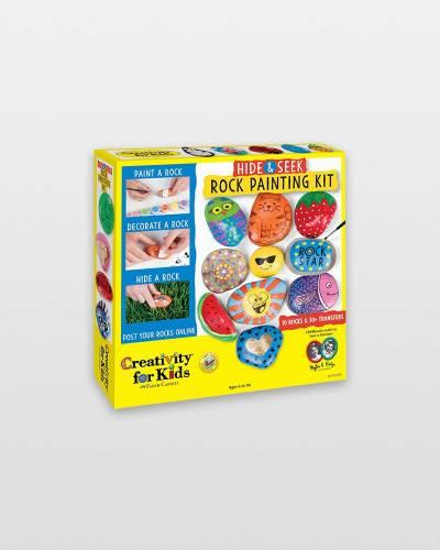 Hide and Seek Rock Painting Activity Kit