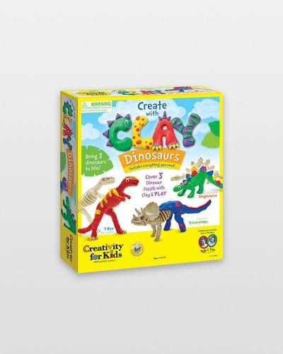 Create with Clay Dinosaurs Activity Kit