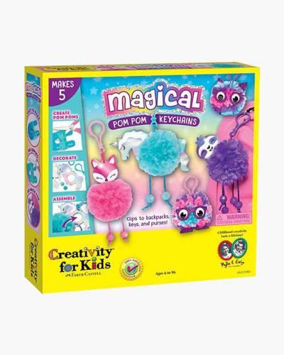 Magical Pom Pom Keychains Craft Kit
