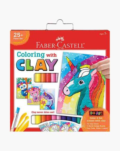 Coloring with Clay Unicorn and Friends Craft Kit