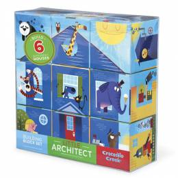 Crocodile Creek Blue Little Architect Building Block Set