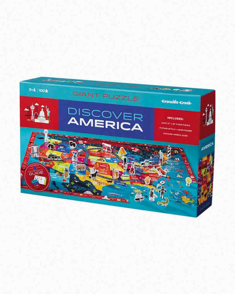 Crocodile Creek Discover America Learn and Play Puzzle (100 pc.)