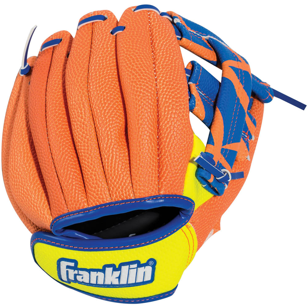 Franklin Sports Airtech Baseball Glove and Ball Set in Orange