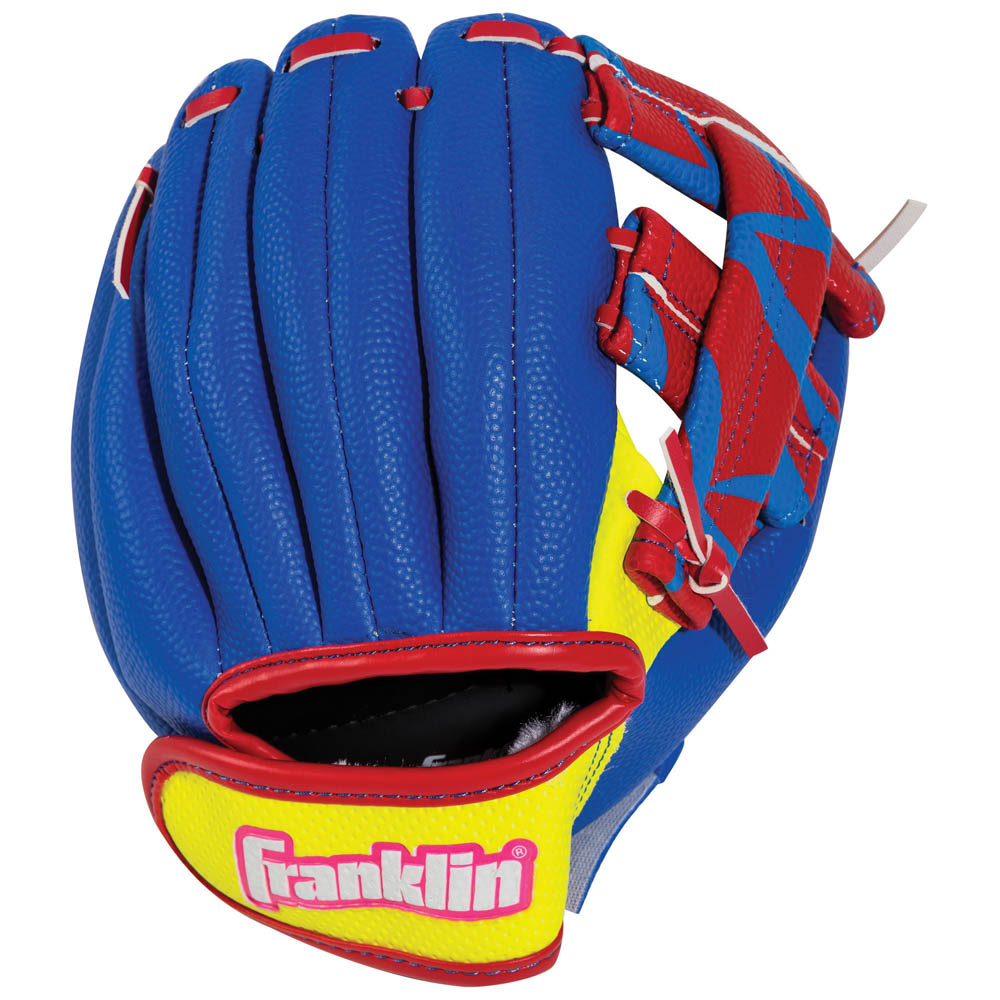 Franklin Sports Airtech Baseball Glove and Ball Set in Red