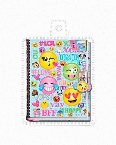 Emoji Diary with Lock and Key