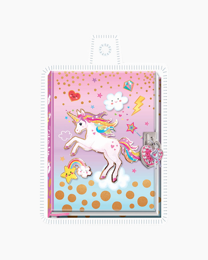 Hot Focus Unicorn Diary With Lock And Key The Paper Store