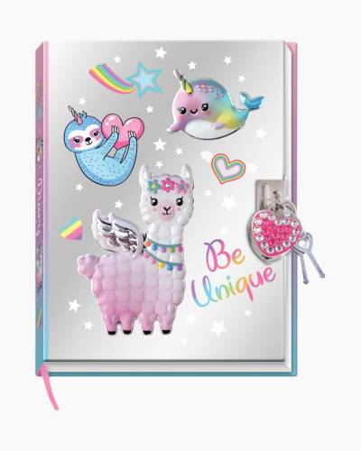 Magical Friends Diary with Lock and Key